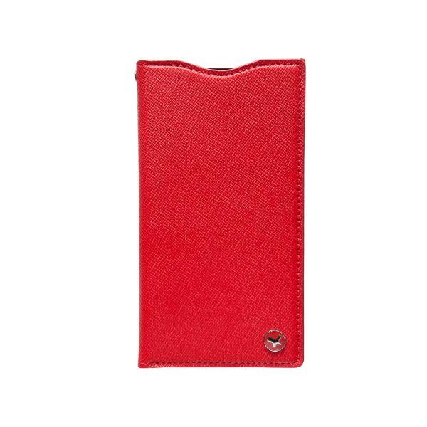docomo 【Xperia A2/Xperia Z1f】ZENUS Prestige Minimal Diary (プレステージミニマルダイアリー) ボタンなし サフィアーノ革(red)f00