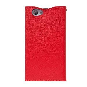 docomo 【Xperia A2/Xperia Z1f】ZENUS Prestige Minimal Diary (プレステージミニマルダイアリー) ボタンなし サフィアーノ革(red) h02