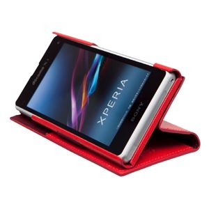 docomo 【Xperia A2/Xperia Z1f】ZENUS Prestige Minimal Diary (プレステージミニマルダイアリー) ボタンなし サフィアーノ革(red) f04