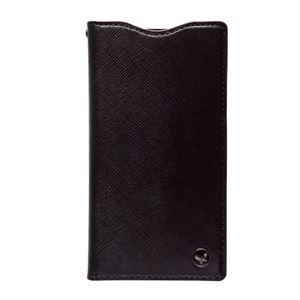 docomo 【Xperia A2/Xperia Z1f】ZENUS Prestige Minimal Diary (プレステージミニマルダイアリー) ボタンなし サフィアーノ革(black) h01