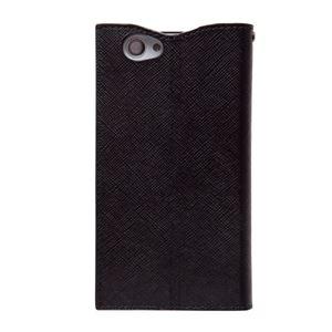 docomo 【Xperia A2/Xperia Z1f】ZENUS Prestige Minimal Diary (プレステージミニマルダイアリー) ボタンなし サフィアーノ革(black) h02
