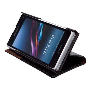 docomo 【Xperia A2/Xperia Z1f】ZENUS Prestige Minimal Diary (プレステージミニマルダイアリー) ボタンなし サフィアーノ革(black) f04