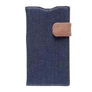 docomo 【Xperia A2/Xperia Z1f】ZENUS Denim Vintage Pocket Diary(デニムビンテージポケットダイアリー) スナップボタン デニム、イタリアン本革(Vintage Pocket) h01