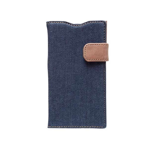 docomo 【Xperia A2/Xperia Z1f】ZENUS Denim Vintage Pocket Diary(デニムビンテージポケットダイアリー) スナップボタン デニム、イタリアン本革(Vintage Pocket)f00