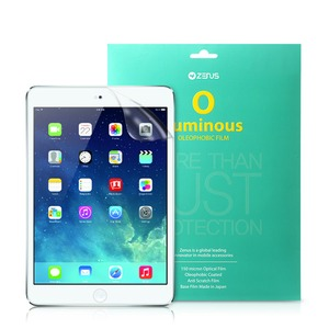 【iPad Air】ZENUS Luminous-O 指紋防止液晶保護フィルム(ルミナスO シモンボウシエキショウホゴフィルム)3H 透過率90%以上 Z2970iPA(指紋防止フィルム)