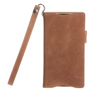 【Xperia ZL2】Zenus Prestige Vintage Diary (プレステージビンテージダイアリー) イタリアン本革 ストラップ付 スナップボタン スタンド機能付 卓上ホルダ対応(Diary) h01