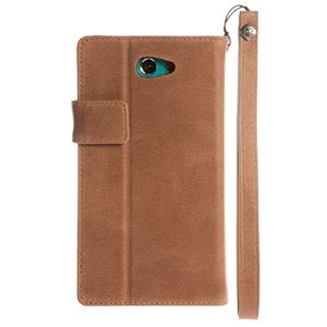 【Xperia ZL2】Zenus Prestige Vintage Diary (プレステージビンテージダイアリー) イタリアン本革 ストラップ付 スナップボタン スタンド機能付 卓上ホルダ対応(Diary) h02