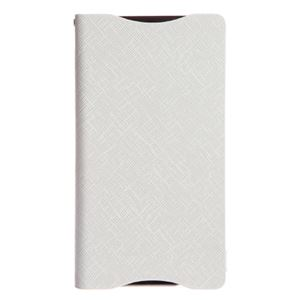 【Xperia ZL2 ケース】Zenus Prestige Minimal Diary (プレステージミニマルダイアリー) サフィアーノ革 ボタンなし スタンド機能付 卓上ホルダ対応(white) h01