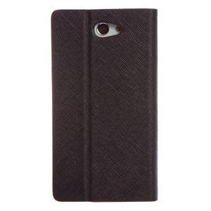 【Xperia ZL2 ケース】Zenus Prestige Minimal Diary (プレステージミニマルダイアリー) サフィアーノ革 ボタンなし スタンド機能付 卓上ホルダ対応(black) h02