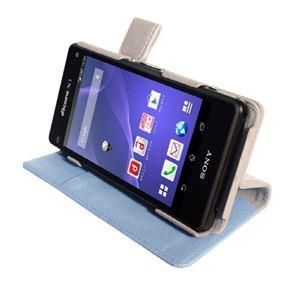 【Xperia A2/Xperia Z1f】ZENUS ★スタンド機能付★Masstige E-note Diary(マステージイーノートダイアリー) スタンド機能付 卓上ホルダ対応 マグネットボタン(blue) f04