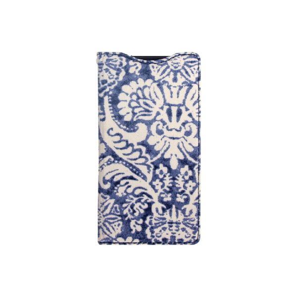 【Xperia A2/Xperia Z1f】ZENUS ★スタンド機能付★Denim Paisley Diary(デニムペイズリーダイアリー)スタンド機能付 卓上ホルダ対応 ボタンなしf00