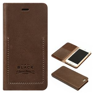 iPhone6s/6 ケース ZENUS Black Tesoro Diary(ゼヌス ブラックテソロダイアリー)アイフォン(brown) h01