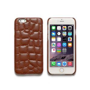 iPhone6s/6 ケース ZENUS Croco Quilting Bar(ゼヌス クロコキルティングバー)アイフォン(Bar Brown) h01