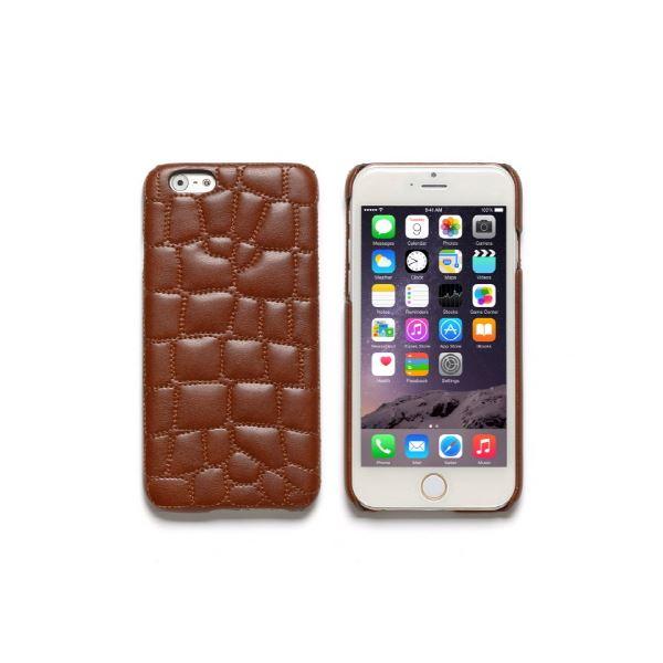 iPhone6s/6 ケース ZENUS Croco Quilting Bar(ゼヌス クロコキルティングバー)アイフォン(Bar Brown)f00
