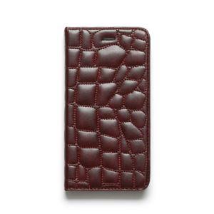 iPhone6s Plus/6 Plus ケース ZENUS Croco Quilting Diary(ゼヌス クロコキルティングダイアリー)アイフォン(Wine) h01