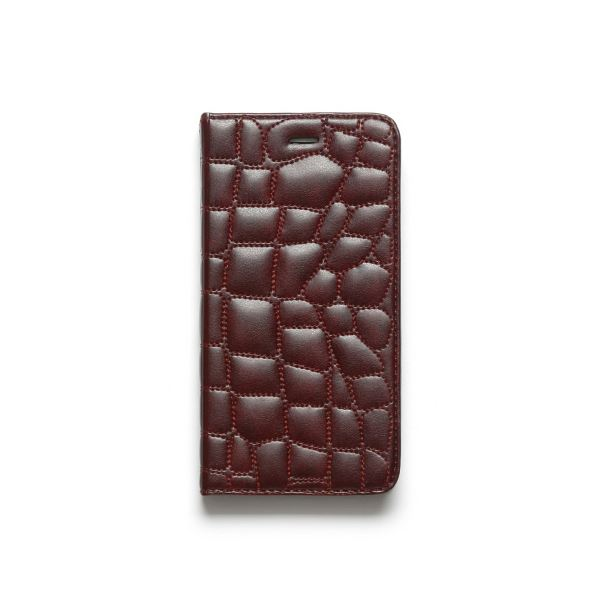 iPhone6s Plus/6 Plus ケース ZENUS Croco Quilting Diary(ゼヌス クロコキルティングダイアリー)アイフォン(Wine)f00