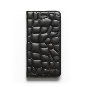 iPhone6s Plus/6 Plus ケース ZENUS Croco Quilting Diary(ゼヌス クロコキルティングダイアリー)アイフォン(Black) h01