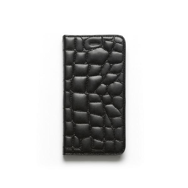 iPhone6s Plus/6 Plus ケース ZENUS Croco Quilting Diary(ゼヌス クロコキルティングダイアリー)アイフォン(Black)f00