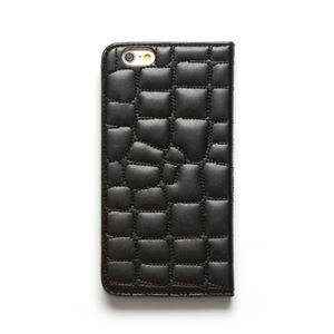 iPhone6s Plus/6 Plus ケース ZENUS Croco Quilting Diary(ゼヌス クロコキルティングダイアリー)アイフォン(Black) h02