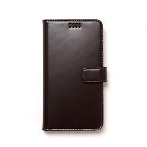 多機種対応スマートフォンマルチケース ZENUS Diana Diary(ゼヌス ダイアナダイアリー)5インチスマートフォン(Black Choco) h01