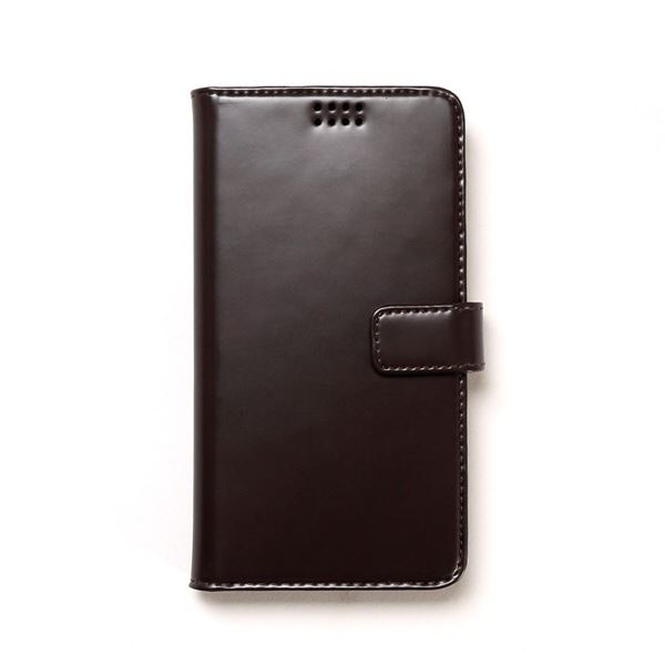 多機種対応スマートフォンマルチケース ZENUS Diana Diary(ゼヌス ダイアナダイアリー)5インチスマートフォン(Black Choco)f00