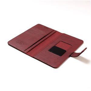 多機種対応スマートフォンマルチケース ZENUS Emboss Diary(ゼヌス エンボスダイアリー)5インチスマートフォン(Wine) f04