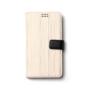 多機種対応スマートフォンマルチケース ZENUS Pleats Diary(ゼヌス プリーツダイアリー)(White) h01