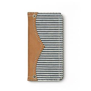 iPhone6s ケース 手帳型 ZENUS Denim Stripe Diary(ゼヌス デニムストライプダイアリー)アイフォン iPhone6(white) h01