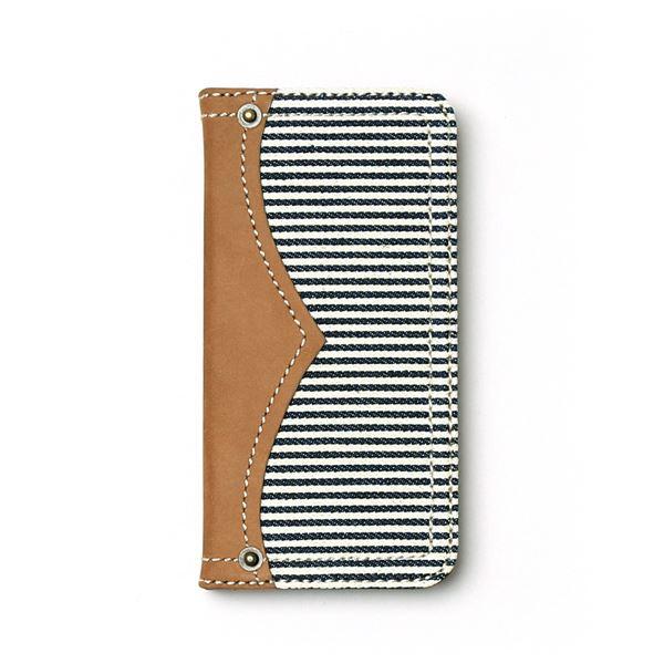 iPhone6s ケース 手帳型 ZENUS Denim Stripe Diary(ゼヌス デニムストライプダイアリー)アイフォン iPhone6(white)f00