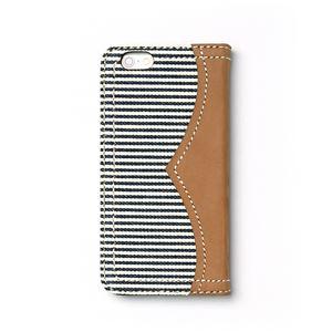 iPhone6s ケース 手帳型 ZENUS Denim Stripe Diary(ゼヌス デニムストライプダイアリー)アイフォン iPhone6(white) h02