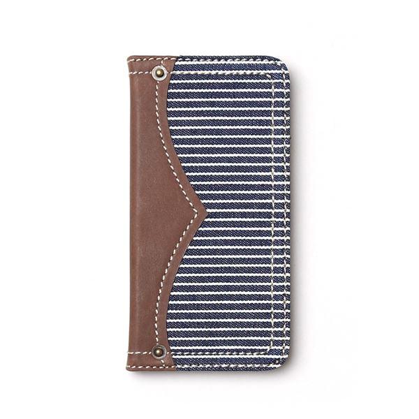 iPhone6s ケース 手帳型 ZENUS Denim Stripe Diary(ゼヌス デニムストライプダイアリー)アイフォン iPhone6(navy)f00