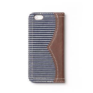 iPhone6s ケース 手帳型 ZENUS Denim Stripe Diary(ゼヌス デニムストライプダイアリー)アイフォン iPhone6(navy) h02