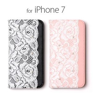 abbi iPhone7 Lace Diary ピンク