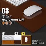 BEFiNE Magic Mouse 2用レザーパッド Plus Pad 2 ブラウン
