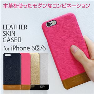 HANSMARE iPhone 6s/6 LEATHER SKIN CASE II ゴールド