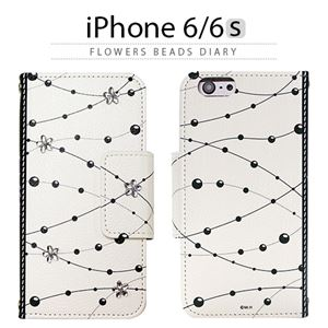 Mr.H iPhone6/6S Flowers Beads Diary