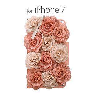 Mr.H iPhone7 Bella Rosette Diary ピンク