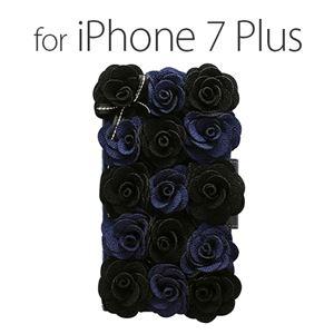 Mr.H iPhone 7 Plus Bella Rosette Diary ブラック