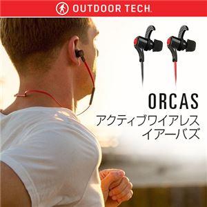OUTDOOR TECH ORCAS アクティブワイアレスイアーバズ レッド h01