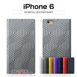 SLG Design iPhone6 D4 Metal Leather Diary ネイビー
