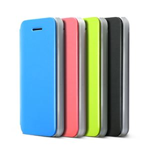 ZENUS iPhone5C Masstige Color Flip Case ブラック