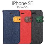 Zenus iPhone SE Color Edge Diary リアルブラック