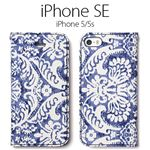 Zenus iPhone SE Denim Paisley Diary