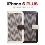 ZENUS iPhone6 Plus Herringbone Diary ブラック