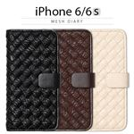 Zenus iPhone6/6S Mesh Diary ダークブラウン