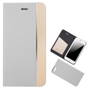 Chabel iPhone6 Metal Line Diary シルバー