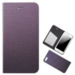 Chabel iPhone6 Plus Metal Square Cover Diary パープル