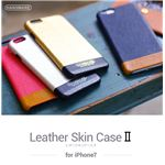 HANSMARE iPhone7 LEATHER SKIN CASE II ネイビー