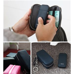 HANSMARE iQOS LEATHER CASE ネイビー