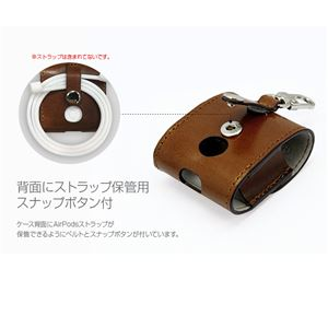 HANSMARE ITALY LEATHER AirPods CASE ブラック